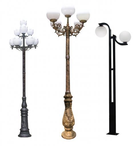 Một số mẫu cột đèn trang trí sân vườn